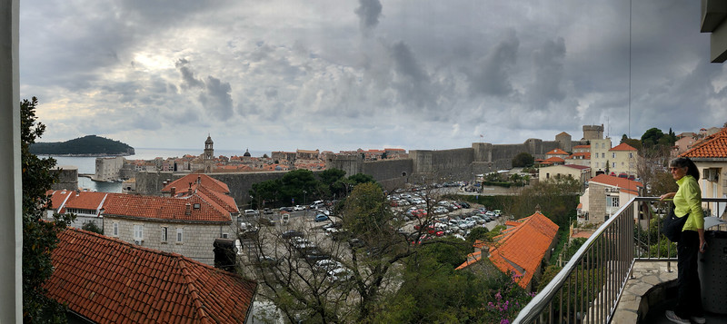 Dubrovnik from lower cable car platform