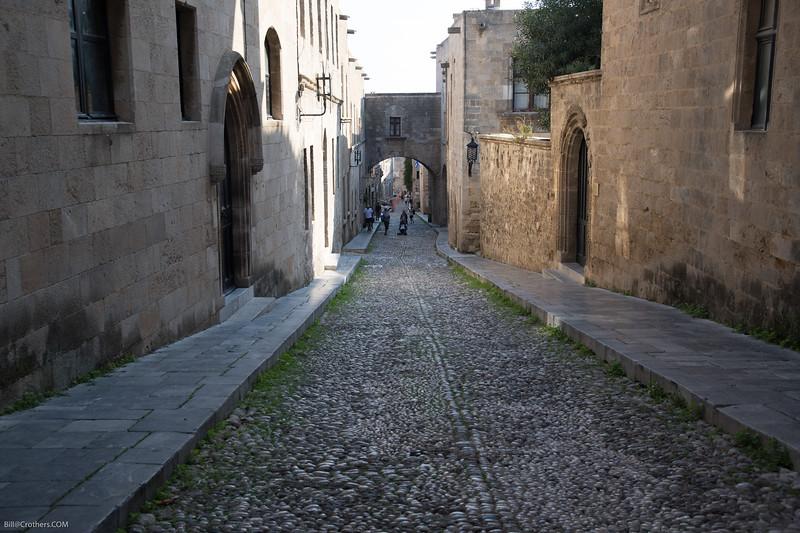 Knight street inside the walls of Rhodes