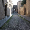 Knight street inside the walls of Rhodes