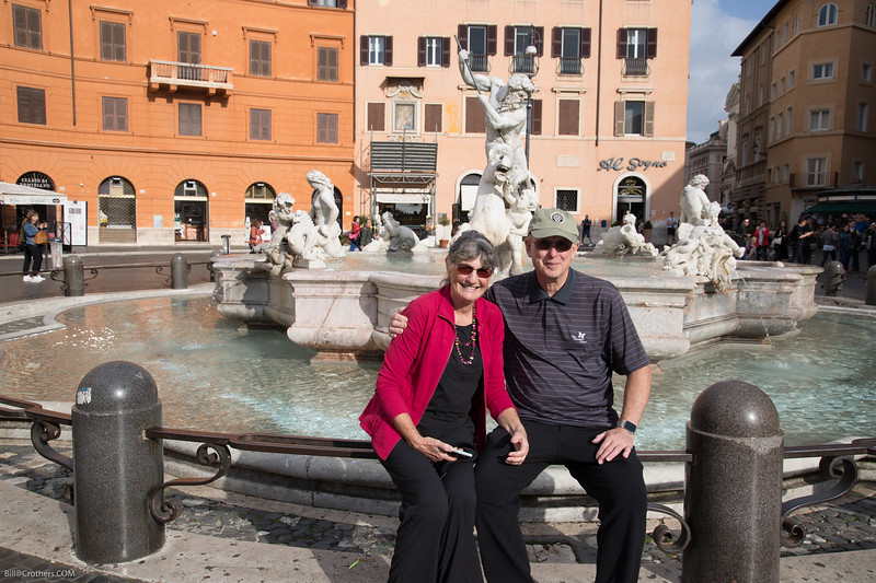 Bill and Barb at the Piazza Navonna
