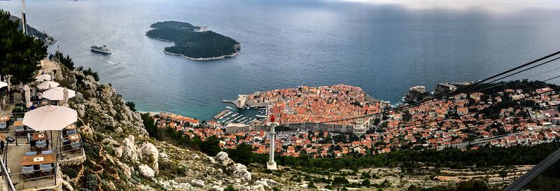 Dubrovnik from upper cable car platform