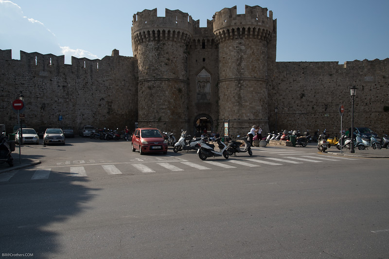 Rhodes castlw wall and gate