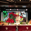 Seabourn cooking demonstration with new Video screen in background.