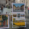 Piazza Navonna artists and their work.