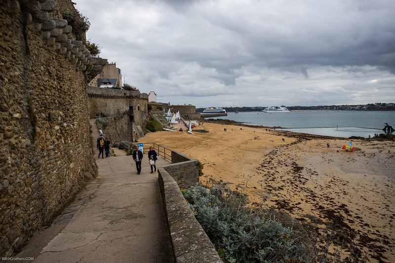 St. Malo, castle, Ovationl in background right