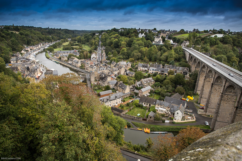 from Dinan view over La Rance
