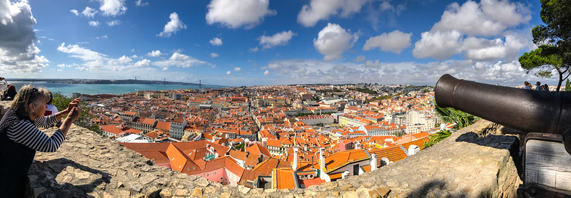 From St. George Castle (Bev on left). Lisbon