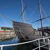 Baiona, Spain. Replica of Pinta