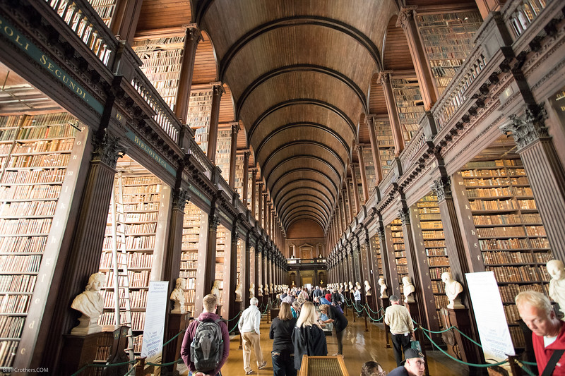 library at Trinity College, long room, Dublin