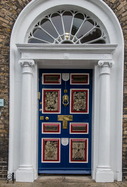 Unique doors around Merrion Square Dublin