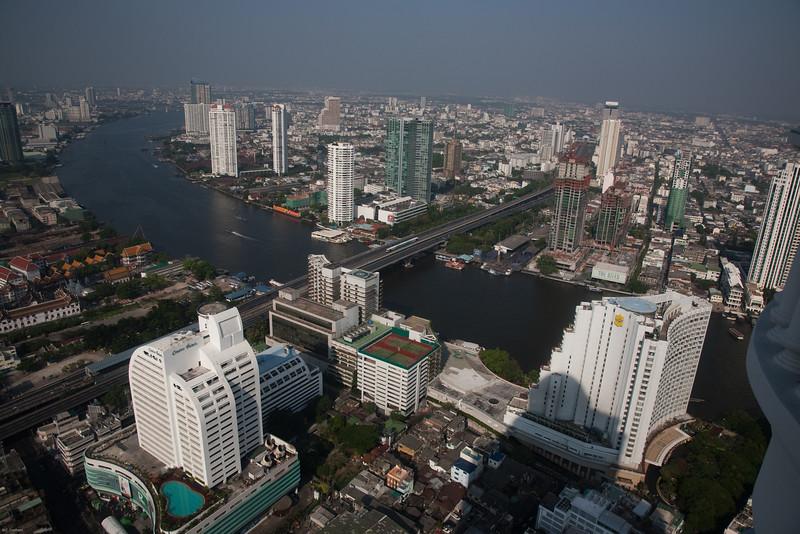 Daytime view showing Chau Praya River in early morning