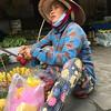 vendor selling rambutans and bananas.