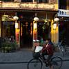 Hoi An - restaurant with old Vietnamese script.