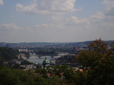 2009 - Bridges over Moldava from Prazsky hrad