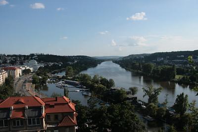 2009 - Moldava from Vysehrad, Praha