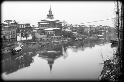 River bank in Srinagar, Kashmir Dec 2003