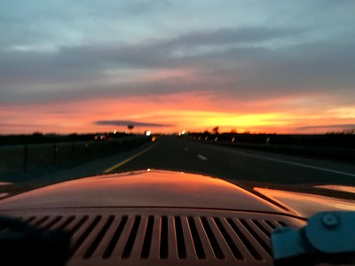 4-16-19 Sunset driving Datsun IMG_2340