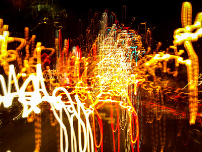 Abstract Light Painting | Downtown Raleigh, North Carolina