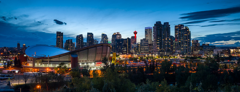 Calgary at Dawn with the Saddledome
