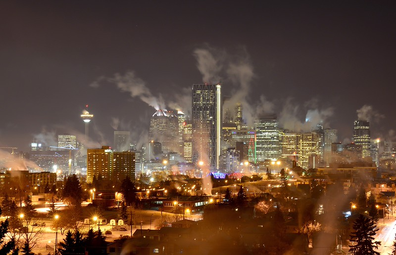 Calgary at -30 degrees Celsius