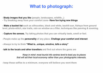 8  What to photograph