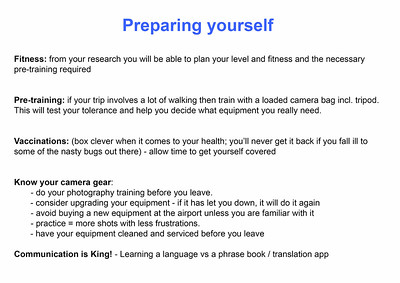 3  Preparing yourself
