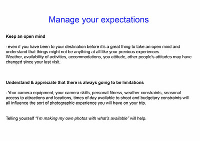 4  Manage your expectations