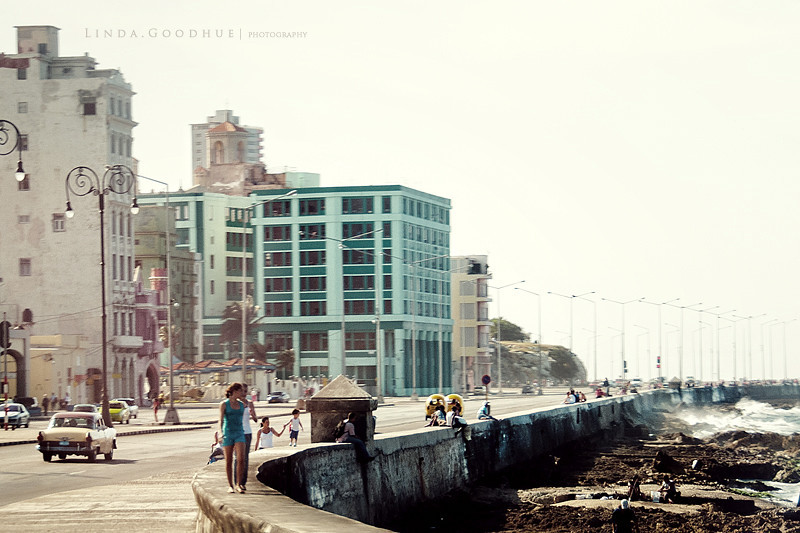 Along the Malecon, Havana, Cuba