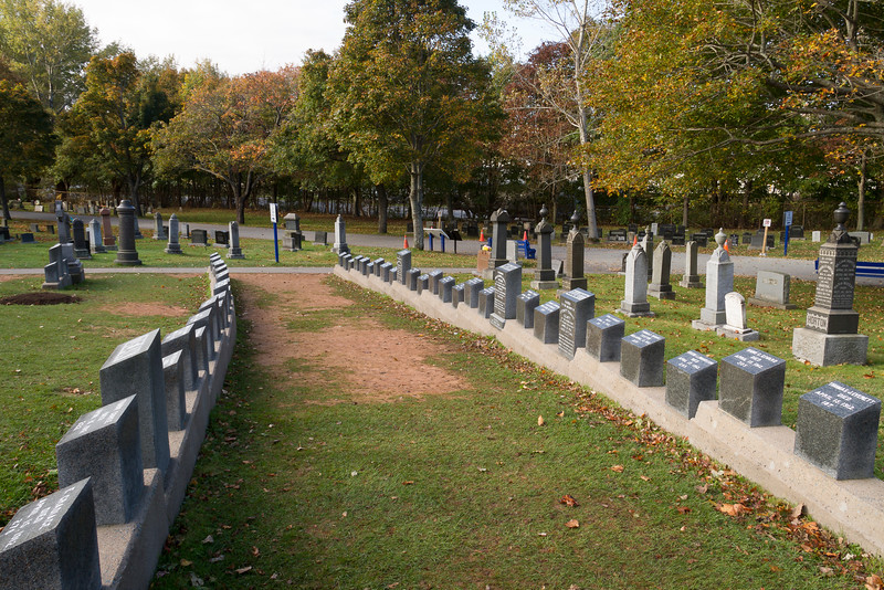 Grave sites for some of the Titanic victims