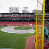 Fenway Park.  View from above the Green Monster