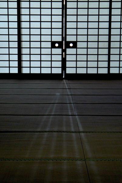 Bhuddist temple.Interior door. Kyoto.