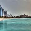 Emirates Palace Marina and Etihad Towers, Abu Dhabi 24 March 2012.