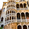 The Palazzo Contarini del Bovolo features a tower with a remarkable spiral staircase.