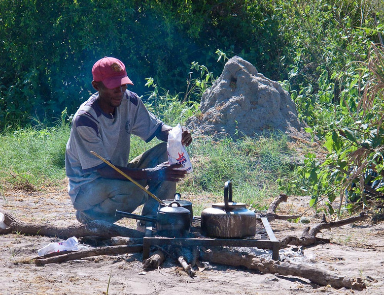 Campsite in the Okavanga Delta