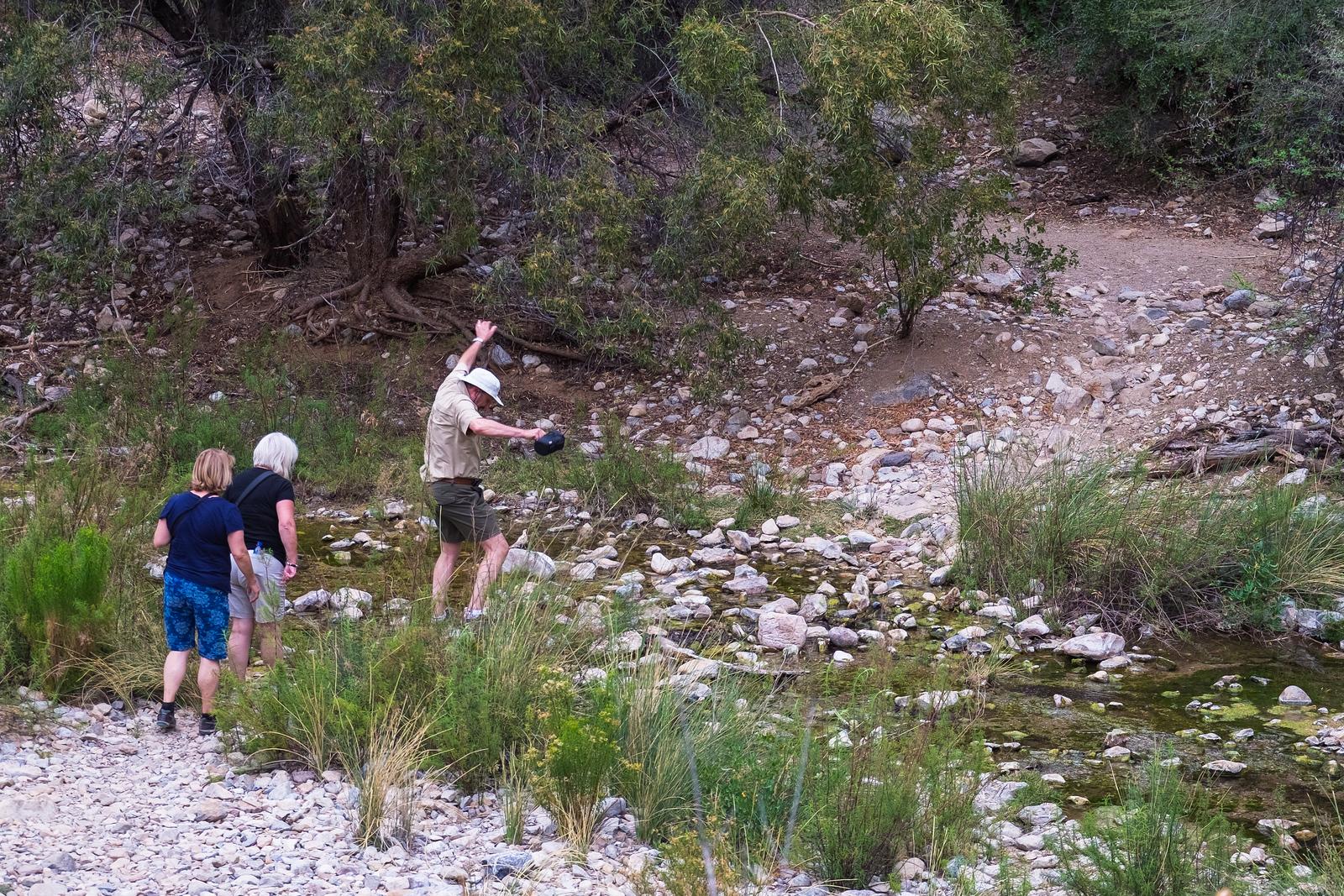 Crossing a stream. Naukluft