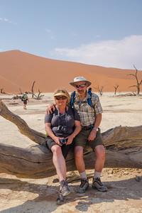 Dirk and Aletta after the dune walk