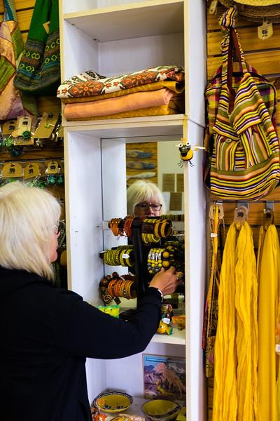 Mary enjoying a retail experience