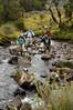 Crossing the Bujuku river