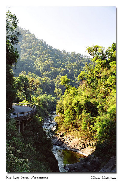 One of the best joy rides I have done in South America. I rented a car in Tucuman and traveled through Rio Los Sasos, an amazing road zigzagging through subtropical forest along a deep ravine...Was an amazing tour!