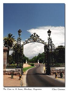 The gate to San Martin park, Mendoza