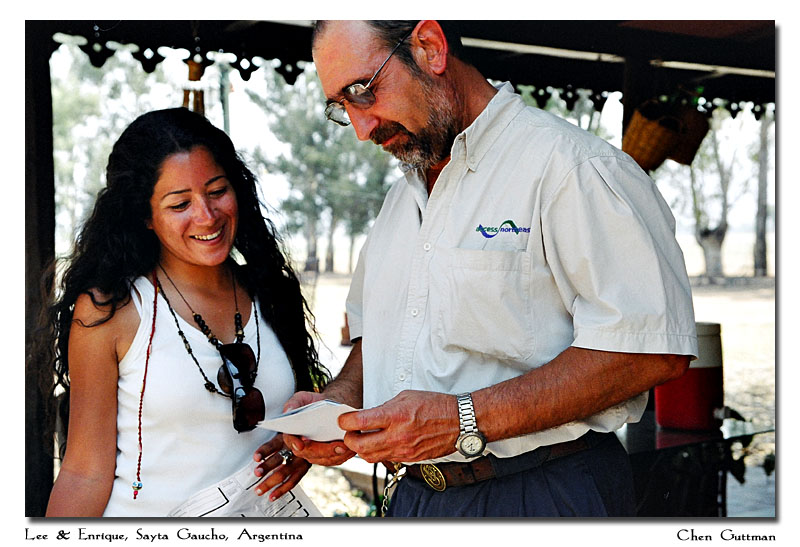 Lee and Enrique - many times I felt they were like father and daughter, Enrique fonded Lee very much. HIs warm hospitality and straightforward attitude invited a pleasant stay at the Sayta ranch...