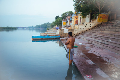 Life at the banks of river Yamuna.