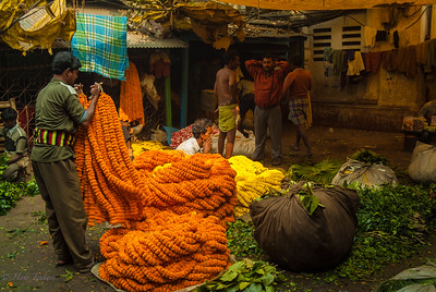 Flower market Calcutta