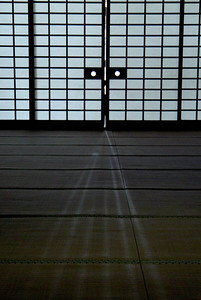 Bhuddist temple.Interior door. Kyoto.