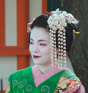 Traditional Japanese woman. Kyoto