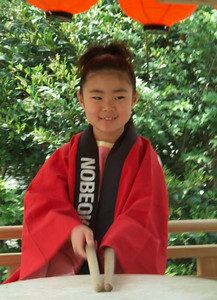 Girl Drummer. Nobeoka. Kyushu