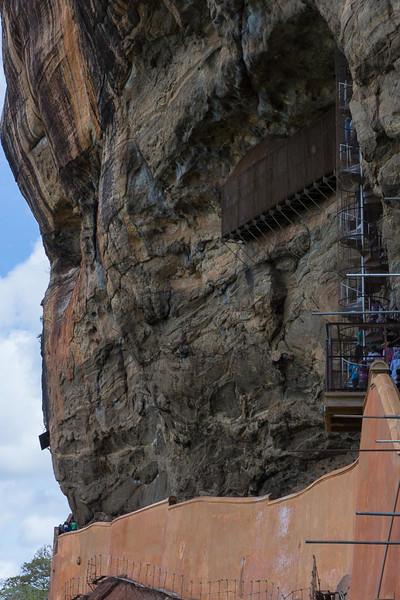 Steep ascent at the Sigiriya Fortress