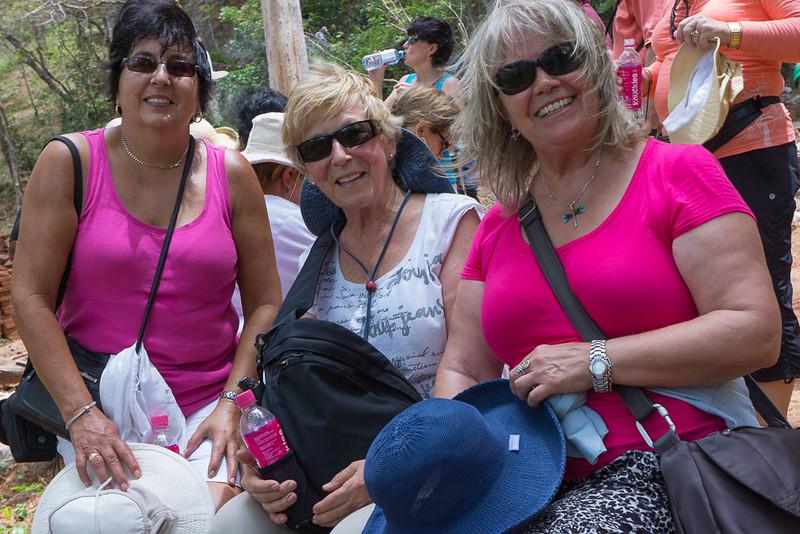 Mary, Margie and Eve at Sigiriya