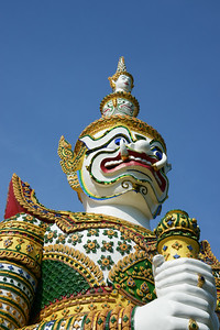 White Guardian Demon - Wat Arun