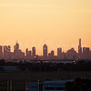 Melbourne CBD as seen from roof of long-term car park located at the Tullamarine-Melbourne airport.